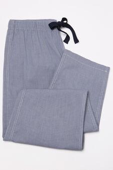 Pyjama trousers with drawstring, Blue, hi-res