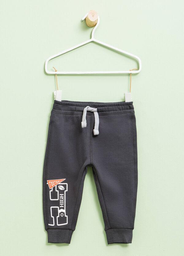 Pantalón de chándal de algodón con estampado   OVS