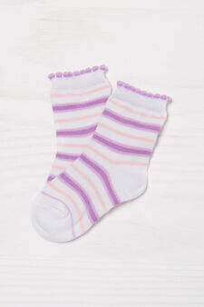 Two-pair pack patterned socks, Lilac, hi-res