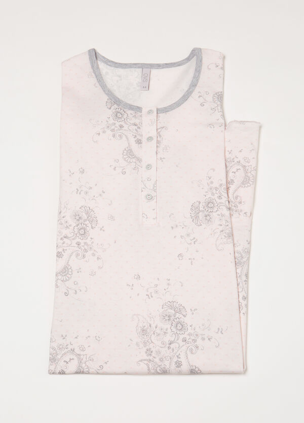 Nightshirt with pattern and buttons | OVS