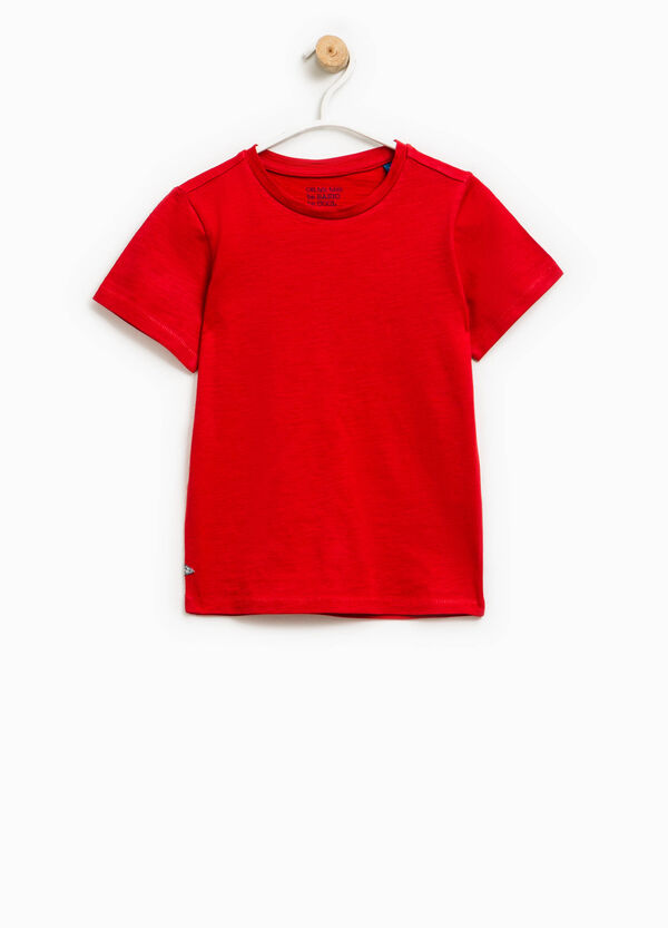 T-shirt in puro cotone con patch | OVS