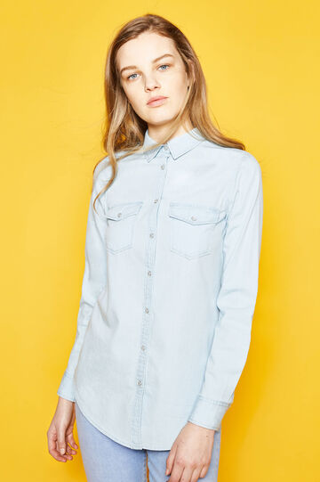 100% cotton shirt with rounded hem