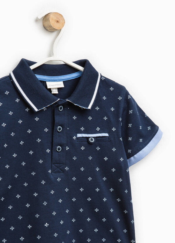 Patterned polo shirt with pocket | OVS