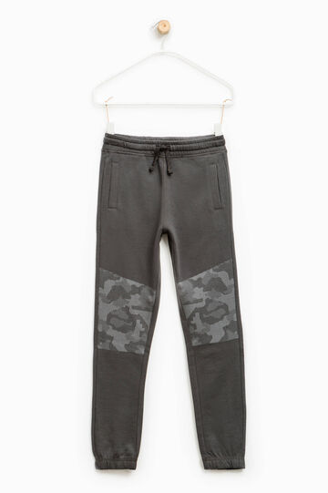Camouflage print joggers, Slate Grey, hi-res