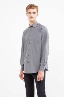 Formal shirt with cutaway collar, Grey, hi-res