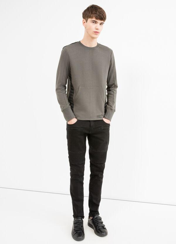 Cotton blend sweatshirt with inserts | OVS
