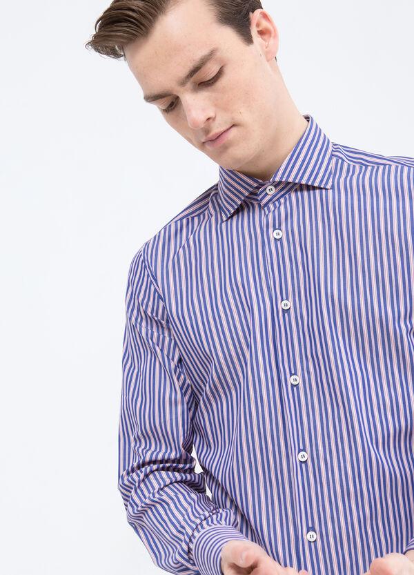 Camicia slim fit puro cotone a righe | OVS