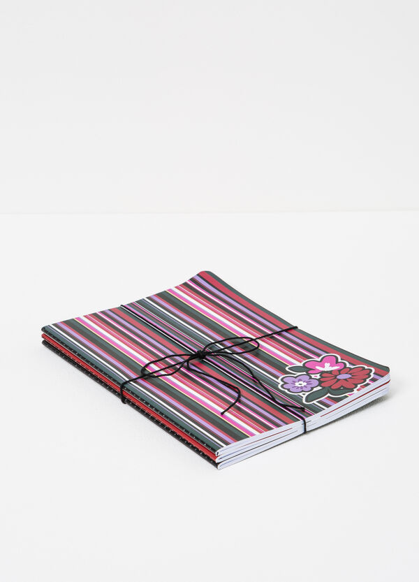 Set of three notebooks with lined pages   OVS