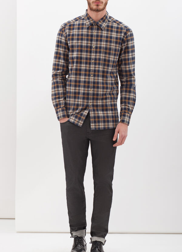 Flannel shirt with pocket | OVS