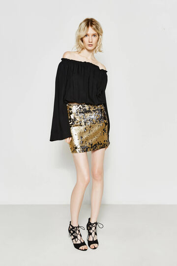 Mini skirt with two-tone sequins