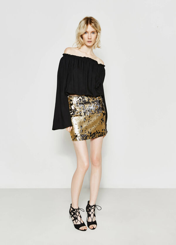 Mini skirt with two-tone sequins | OVS