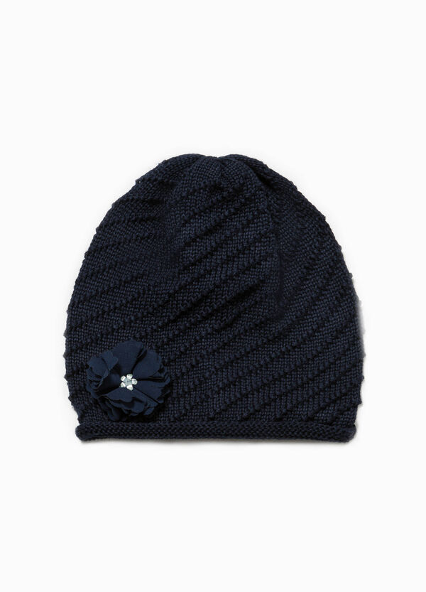 Beanie cap with flower | OVS