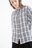 100% viscose tartan shirt, White/Blue, hi-res