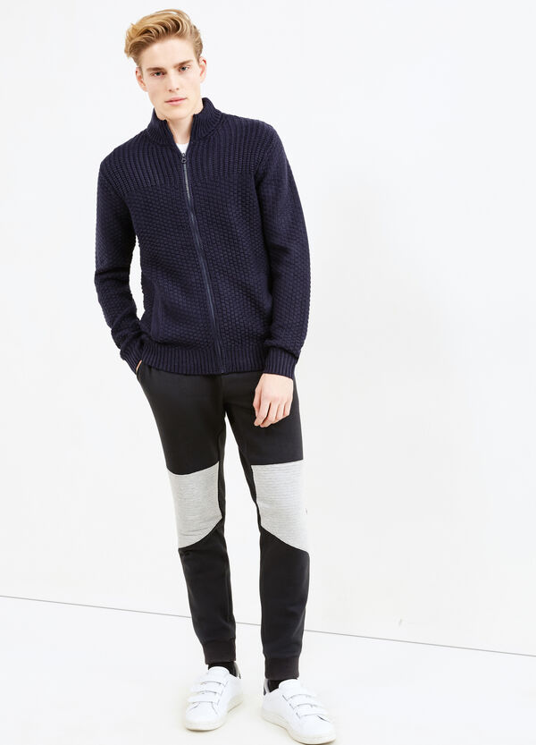 Cardigan tricot con collo alto e zip | OVS