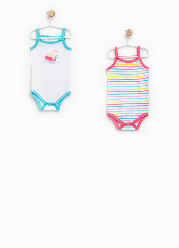 Two-pack bodysuits with striped print | OVS