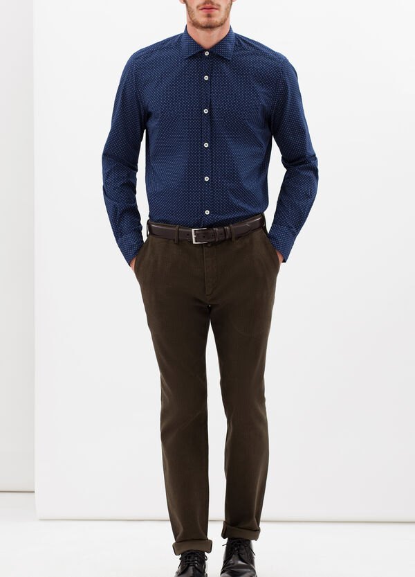 Rumford stretch cotton trousers with circles | OVS