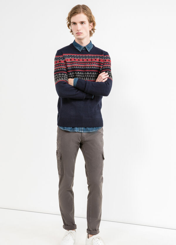 G&H knit pullover with embroidery | OVS