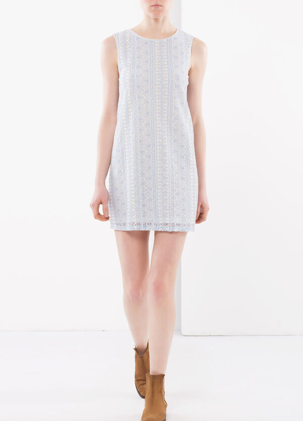 Short dress with intarsia | OVS