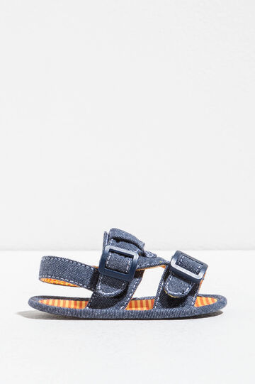 Sandals with striped lining