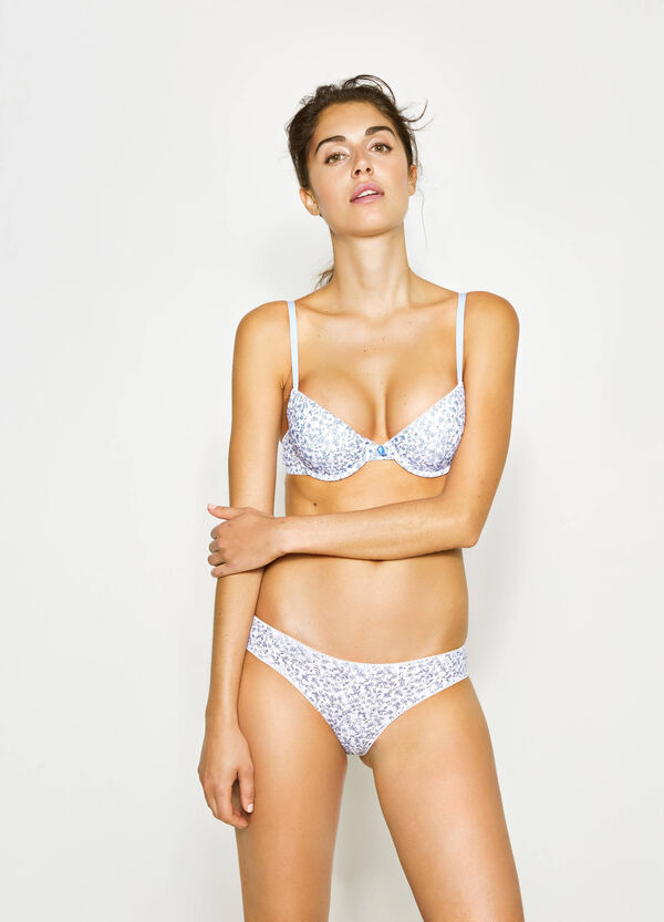 Two-pack floral and solid colour cotton briefs | OVS