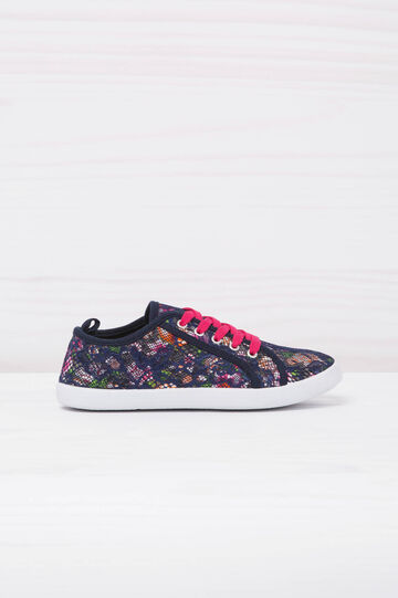 Printed mesh sneakers, Blue, hi-res