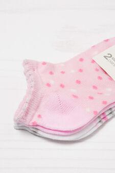 Set due paia di calze fantasia, Rosa, hi-res