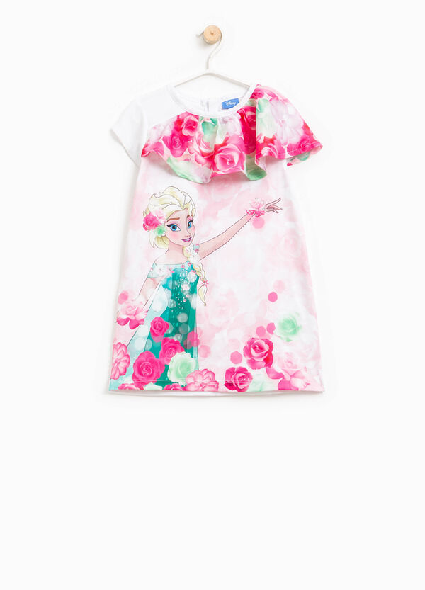 Dress with flounce and Frozen print | OVS