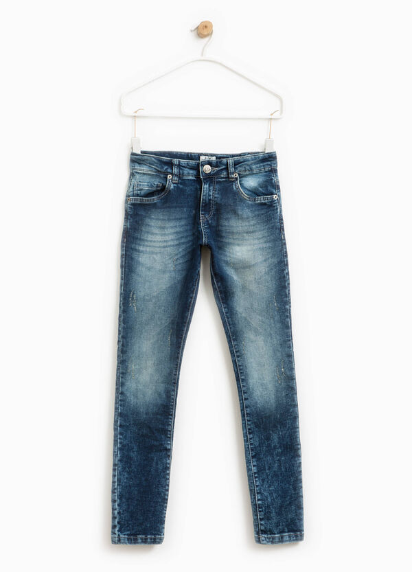 Worn-effect stretch jeans | OVS