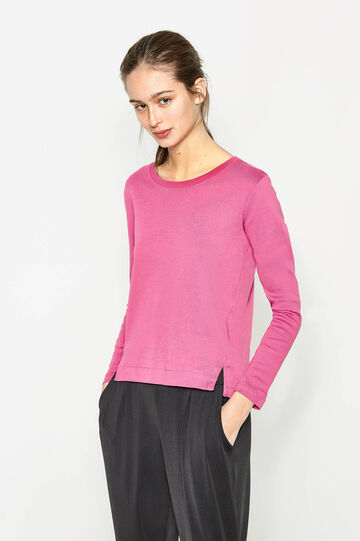 Long-sleeved T-shirt with splits