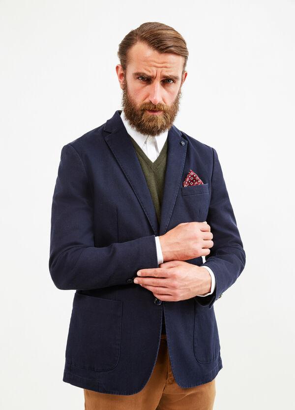Elegant stretch cotton jacket with lapels | OVS