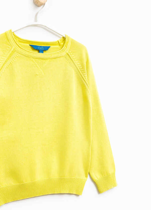 Knitted crew neck pullover in 100% cotton | OVS