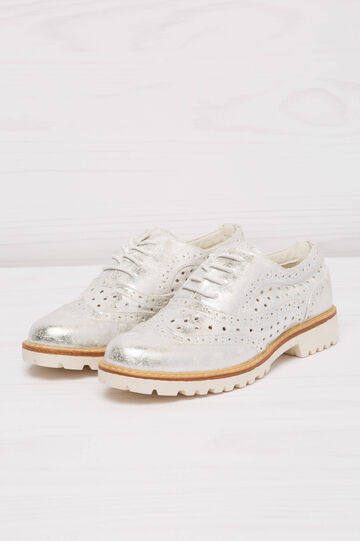 Openwork suede look brogues, Grey/Silver, hi-res