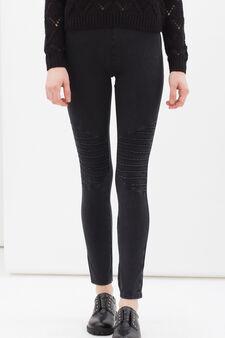 Regular fit stretch jeggings, Black, hi-res