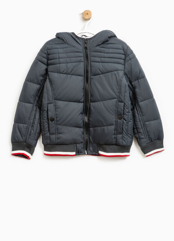Bomber jacket with hood and zip | OVS