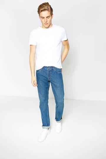 Jeans regular fit cuciture a contrasto, Lavaggio medio, hi-res