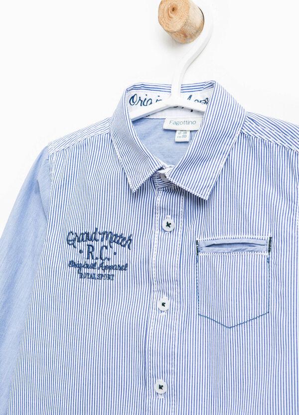 Camicia rigata con ricami e taschini | OVS