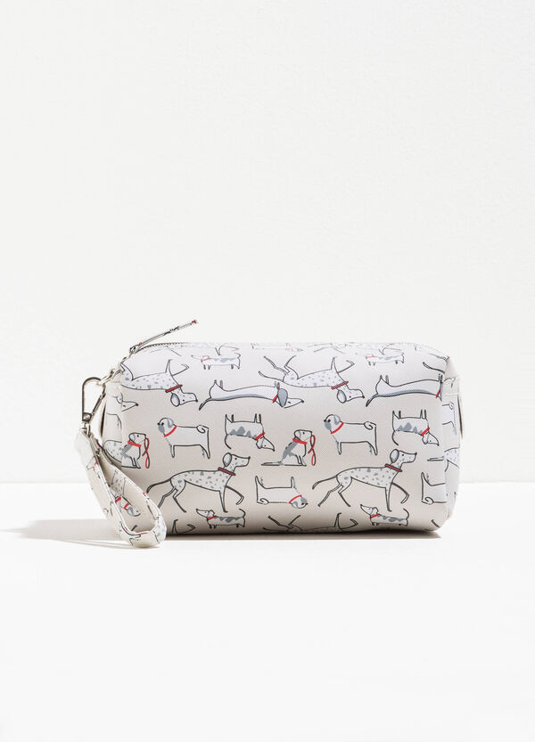 Saffiano-effect clutch bag with all-over print | OVS