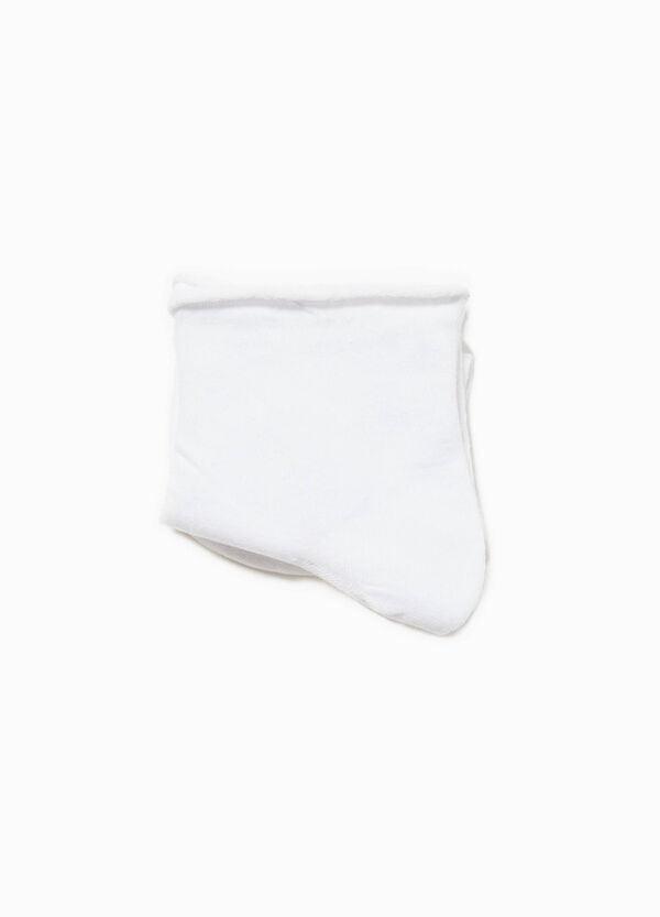 Solid colour stretch cotton short socks | OVS
