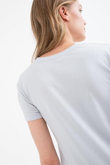 100% cotton printed T-shirt, Light Blue, hi-res