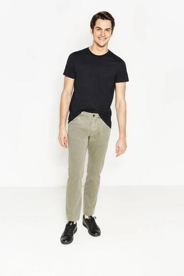 Solid colour 100% cotton trousers