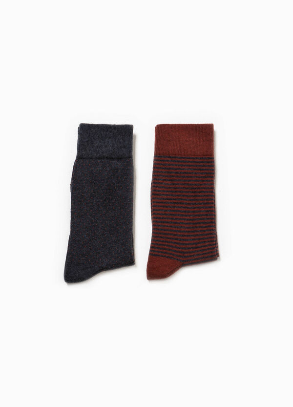 Set due paia di calze lunghe fantasia | OVS