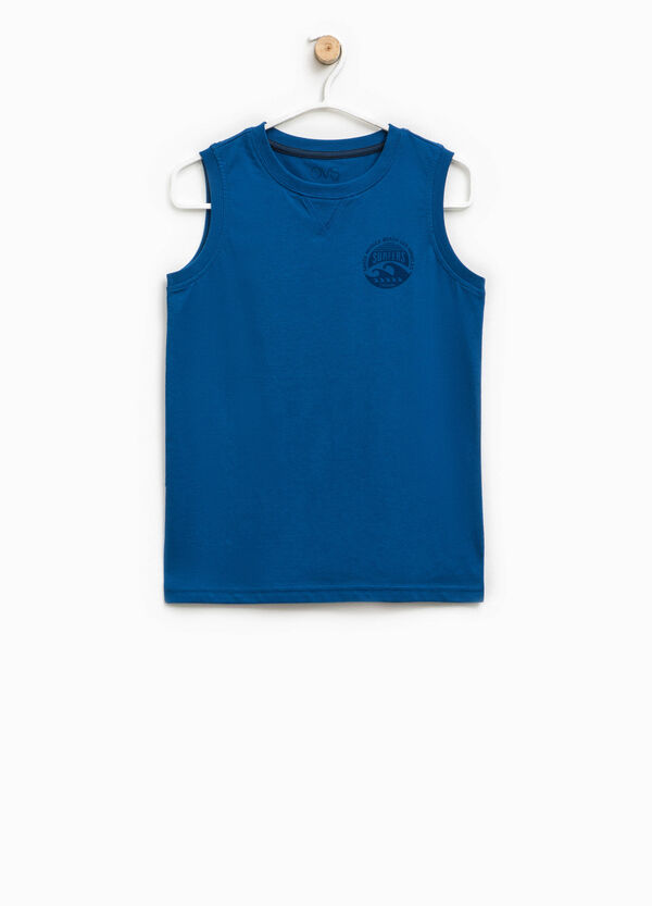 Vest top with print on the chest | OVS