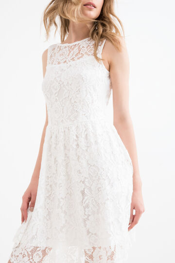 Lined lace dress, Cream White, hi-res