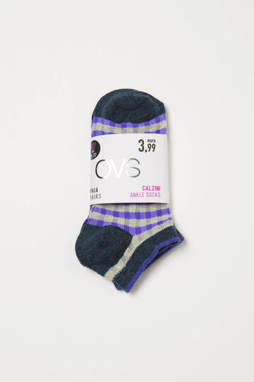 Two-pack short stretch socks, Royal Purple, hi-res