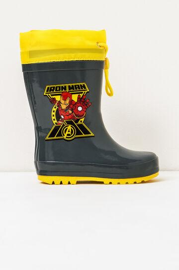 Iron Man rubber Wellingtons, Dark Grey, hi-res