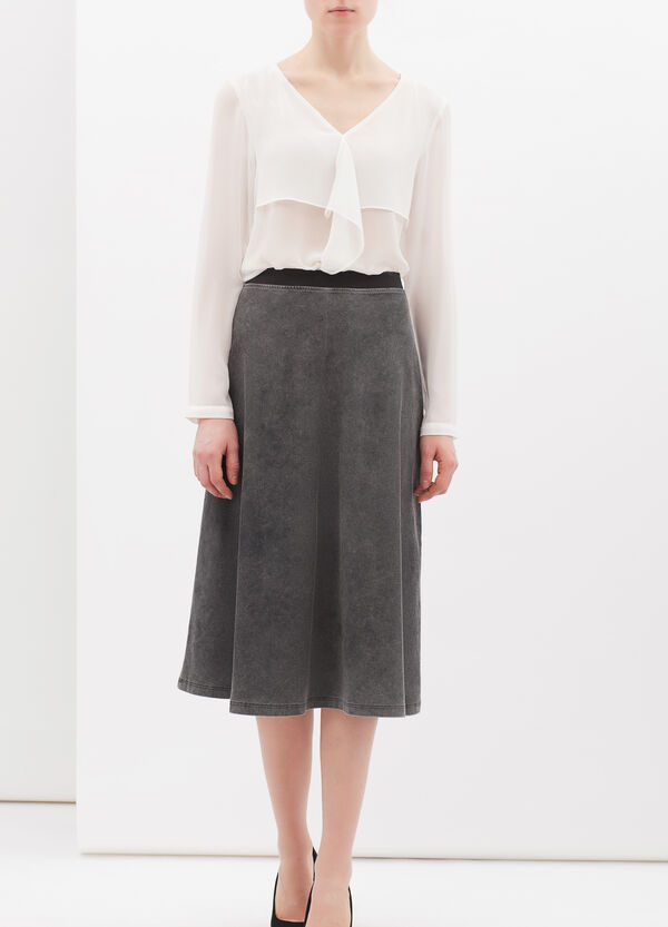 Stretch cotton blended skirt | OVS