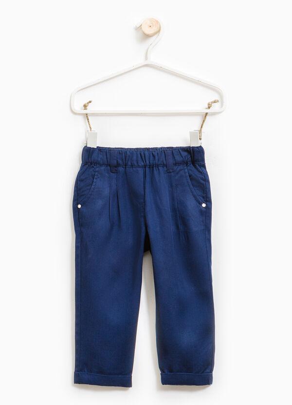 Pantalón en color liso con cintura elástica | OVS