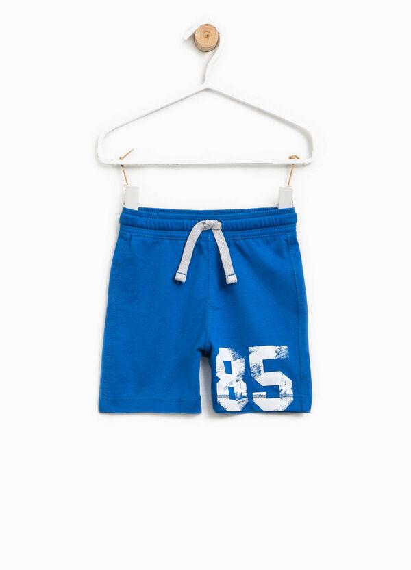 Bermuda shorts with print and drawstring   OVS