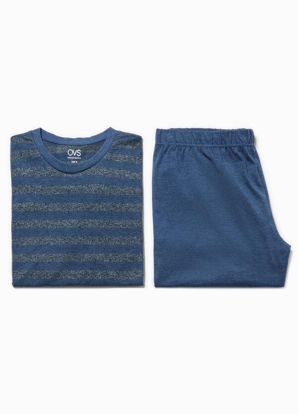 Pigiama maglia e bermuda a righe | OVS