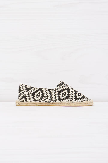 Espadrilles with ethnic pattern, White/Black, hi-res